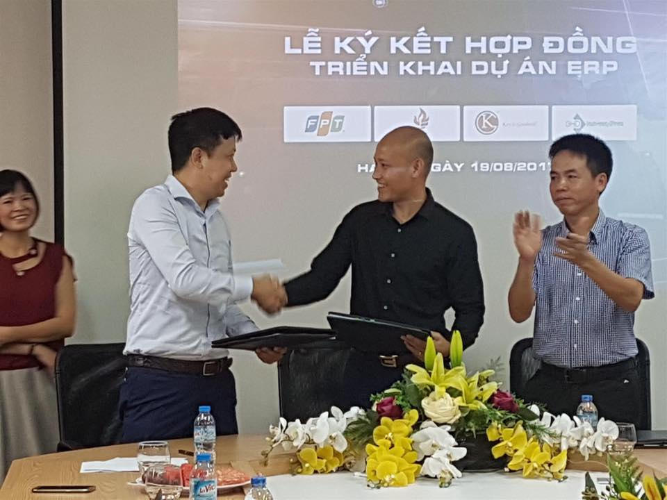 The signing ceremony of cooperation with K&G Viet Nam